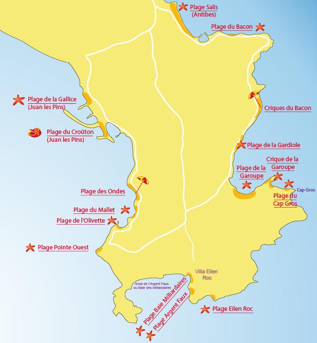 cartes-plages-cap-antibes